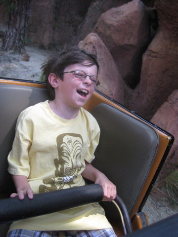 Quinn Going Crazy on Big Thunder Mountain Railroad