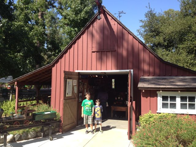 Walt Disney's Railroad Barn in Griffith Park