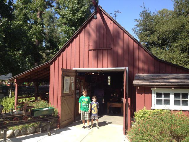 Walt Disney's Railroad Barn in Griffith Park
