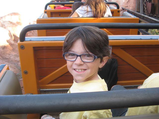 Quinn on Big Thunder Mtn Railroad