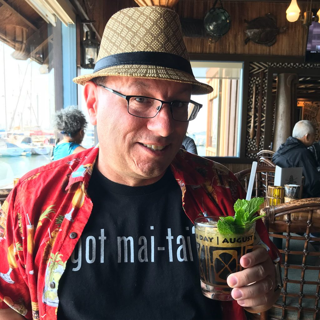 At Trader Vic's in Emeryville for Real Mai Tai Day